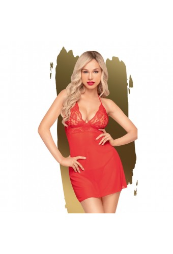 Nuisette et string assorti Rouge Bedtime story - PH0077RED