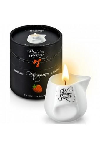 Bougie de massage fraise 80ml