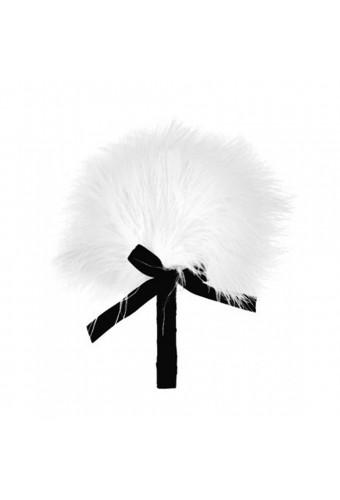Plumeau blanc avec noeud satiné