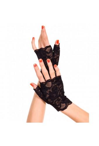 Gants en dentelle florale avec doigts ouverts