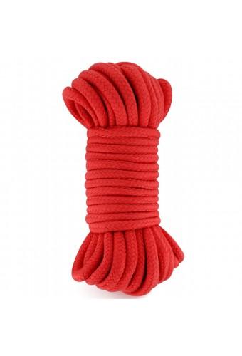 Corde de bondage shibari rouge 10M