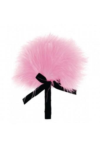 Plumeau rose avec noeud satiné - 100200PNK