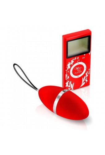 Oeuf vibrant rouge 10 vitesses télécommande écran LCD - CC5720000030