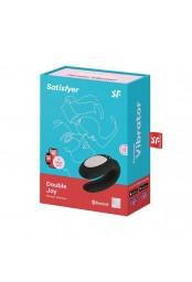 Stimulateur noir connecté Double Joy Satisfyer - CC5972420010